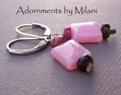 Taffy Pink - Peruvian Opal and Tourmaline Boutique Earrings