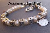 Grandmother Bracelet Grandma Beaded Pearls Charms