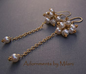 Le Chercheur D'or - Gold Vermeil Pearl Earrings Handcrafted Boutique Jewelry