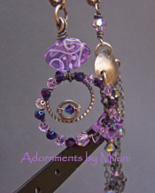 Splendor of Color - Purple Lavender Earrings Glass Lampwork Asymmetrical Sterling Artisan Boutique Jewelry