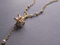 Le Chercheur D'or Necklace - Gold and Pearl Handcrafted Boutique Jewelry
