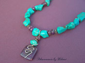 Morado - Purple Jasper Blue Turquoise Stone Necklace
