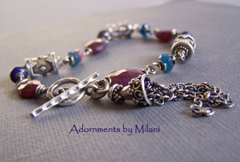 Plum Harvest - Blue Lapis Ruby Apatite Boutique Jewelry