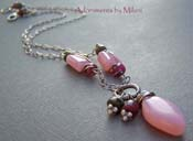 Taffy Pink - Peruvian Opal and Tourmaline Boutique Necklace