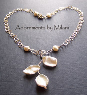 Leimomi Bridal Necklace - Pearl Hawaiian Boutique Sterling Jewelry