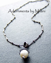 Morning - Pearl Necklace Vintage Style Simple Wedding Bridal Jewelry