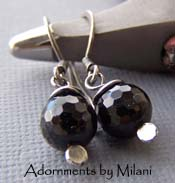 Disco Fever - Simple Small Everyday Black Onyx Earrings
