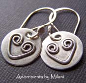 Two Hearts Are Better Than One- Artisan Heart Earrints Sterling Silver