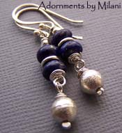 Azul - Dark Blue Earrings Lapis Lazuli