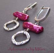 Fashion Fuchsia - Pink Pearl Boutique Earrings Sterling