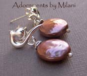 Mayan Mocha - Brown Freshwater Pearl Earrings