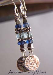 Ocean's Mist  - Blue Earrings Kyanite Aquamarine Gemstone