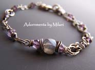 Subtleties - Lavender Purple Bracelet Amethyst Labradorite Gemstones Beaded
