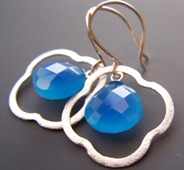 Tidal Blue Chalcedony Earrings Sterling Silver Gemstones