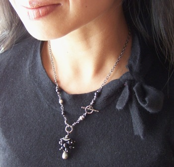 Cumulonimbus- Beaded Black Pearl Necklace Boutique Jewelry