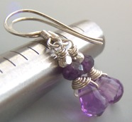 Persephone - Lavendar Purple Amethyst Earrings