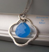 Tidal Blue Necklace Chalcedony Gemstones Sterling Silver
