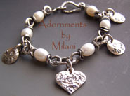 Grandma Bracelet Personalized Grandchildren Charms Sterling Silver