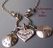 Grammie Necklace - Grandma Jewelry with Grandchildren Name