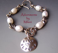 Mommy's Children Bracelet -  Child's Name Personalized