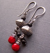 How He Loves - Red and Black Earrings Sterling Boutique Handcrafted Jewelry