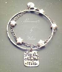 Shine like the Stars Bracelet Inspirational Graduate Sterling Silver Bangle
