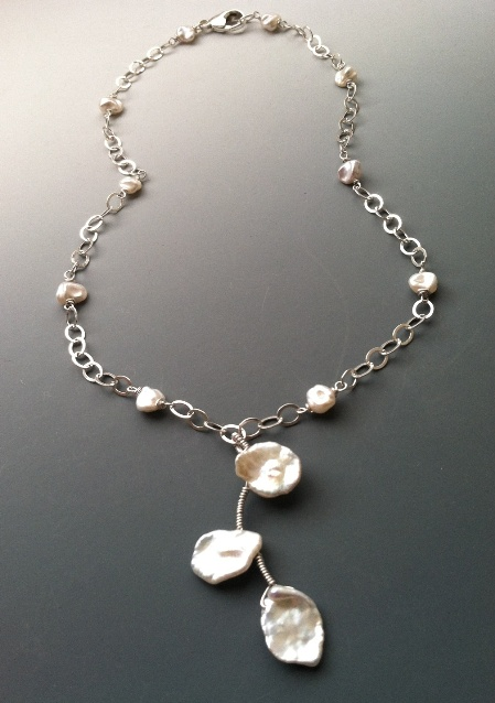 Leimomi Bridal Necklace Pearl Hawaiian Sterling Jewelry Beach Wedding
