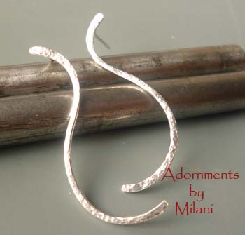 Curvilinear - Sterling Silver Minimalist Earrings Artisan Boutique
