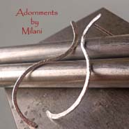 Curvilinear - Sterling Silver Minimalist Earrings Artisan Boutique
