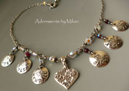 A Grandma's Heart - Personalized Grandchildren Names Necklace
