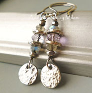 Subtleties - Gray Earrings Lavender Purple Amethyst  Labradorite Stones Boutique Earrings