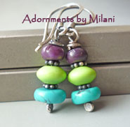 Gelato Earrings - Blue, Green, Purple Gemstone Jewelry