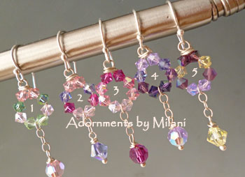 Pink Purple Green Yellow Bridemaid Earrings Bridal Wedding Jewelry Crystal Sterling Silver Set
