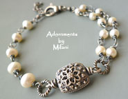 Mother-in-Law Bracelet Vintage Wedding Jewelry Pearls Future Bride