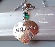 Child's Name Inscriptions Mommy Necklace Personalized Mom Jewelry