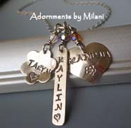 Eclectic Grandma Necklace - Personalized with Grandchildren Children Names