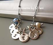 Small Initial Necklace - Personalized Sterling Silver Jewelry
