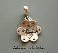 Charms for European Bracelets Personalized Custom Name or Bible Verse