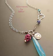 Euphoric- Blue Pink Necklace Gemstone Artisan Boutique Jewelry