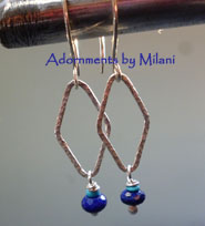 Pacifica - Blue Earrings Lapis Lazuli Stones Sterling Silver