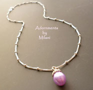 Pastel Lavender Necklace Light Purple Pearl Bridesmaids Wedding Matching Set Jewelry
