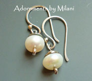 Darling Pearl Earrings - Small Simple White Bridal Earrings