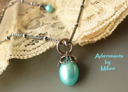 Tiffany Blue Necklace Pearls Bridesmaid Set Wedding Jewelry