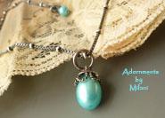 Aqua Pool Blue Necklace Drop Pearl Bridesmaid Set Wedding Jewelry Beaded