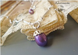 Concord Purple Necklace Dark Pearls Bridesmaid Sterling Silver Matching Set