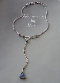 Morning Haze Gray Labradorite Necklace Gemstone Sterling Silver Matching Set