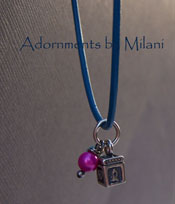Petite Prayer Box Cross Christian Necklace - Blue and Pink Sterling Silver Boutique Jewelry