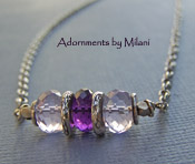 Thunderstorm Necklace - Purple Lavender Amethyst Gemstone Jewelry