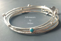 Birthstone Bangle Bracelets Wife Birthday Grandchildren Gemstone Stackable Sterling Silver