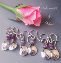 Breast Cancer Awareness Earrings Jewelry Small Short Pink Beaded Sterling Silver